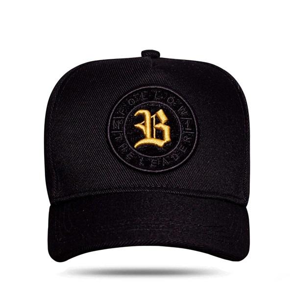 Boné Snapback Follow Logo Camu Black Gold