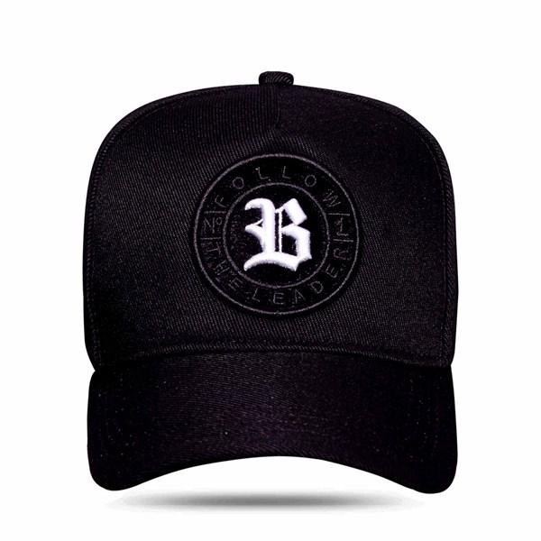 Boné Snapback Follow Logo Camu Black White