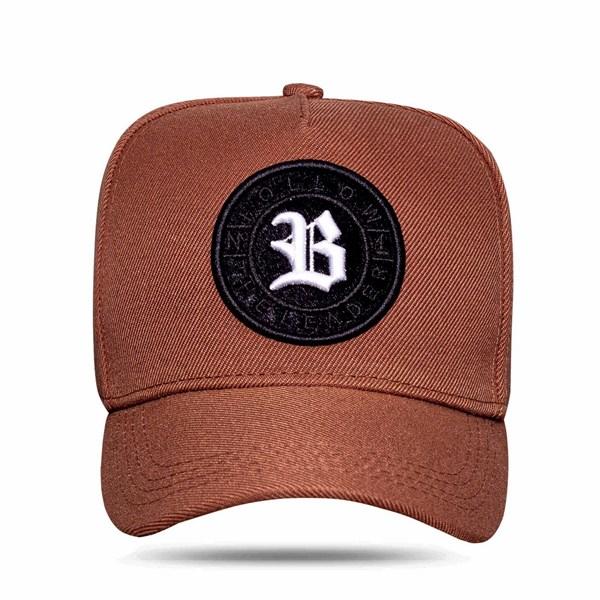 Boné Snapback Follow Logo Camu Brown