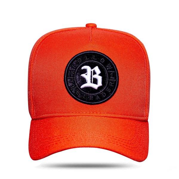 Boné Snapback Follow Logo Camu Orange