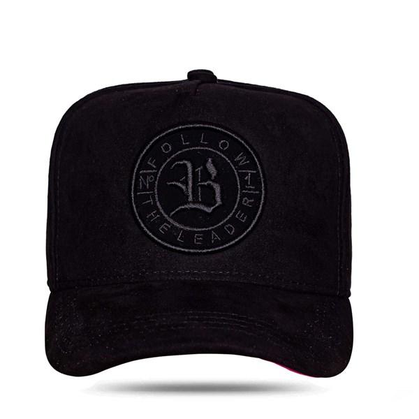 Boné Snapback Follow Suede 2.0 All Black