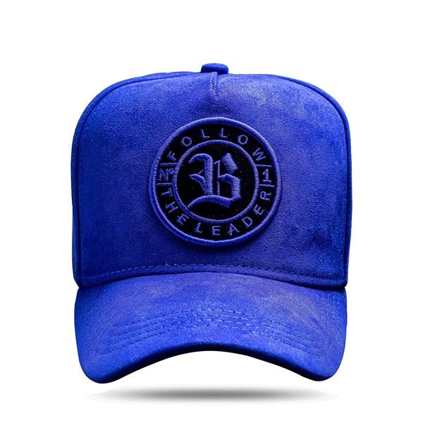 Boné Snapback Follow Suede Blue Royal