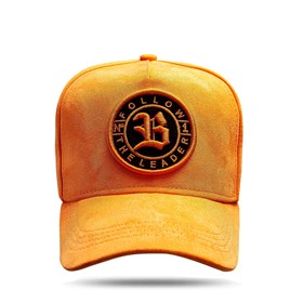 Boné Snapback Follow Suede Orange Clear 2.0