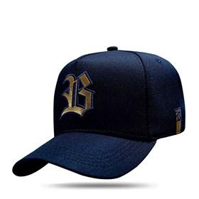 Boné Snapback Golden Logo Navy Blue