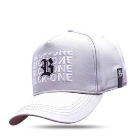 Boné Snapback Grey Clear Logo Black Inverted