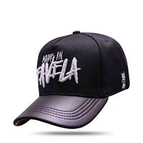 Boné Snapback Hungria Made In Favela Black