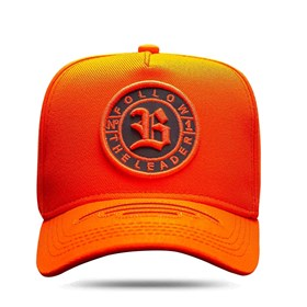 Boné Snapback Laser Cut Follow Orange Fluor