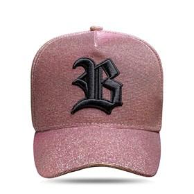 Boné Snapback Logo 3D Pink Dourado