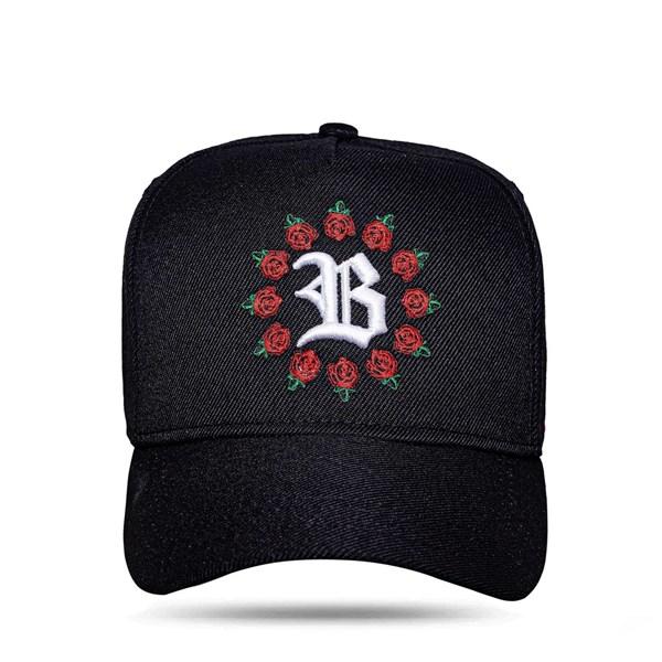 Boné Snapback Logo All Roses Black