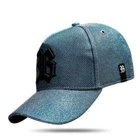 Boné Snapback Logo Azul Celeste Brilho