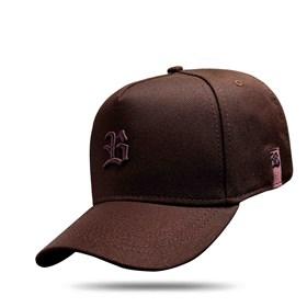 Boné Snapback Logo Basic All Brown Dark