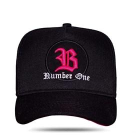 Boné Snapback Logo Circle Pink Black