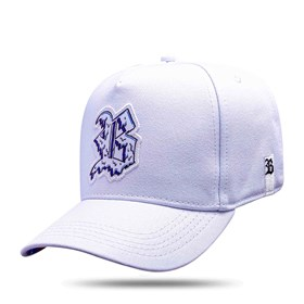 Boné Snapback Logo Escorrido Branco 2.0