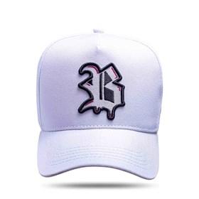 Boné Snapback Logo Escorrido Pink Branco 2.0