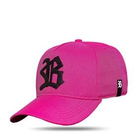 Boné Snapback Logo Ribbon Pink Black