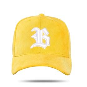 Boné Snapback Logo Suede Yellow Basic