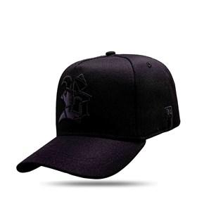 Boné Snapback Logo Verniz Number One Black