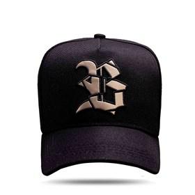 Boné Snapback Logo Verniz Number One Gold Black