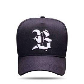 Boné Snapback Logo Verniz White Black