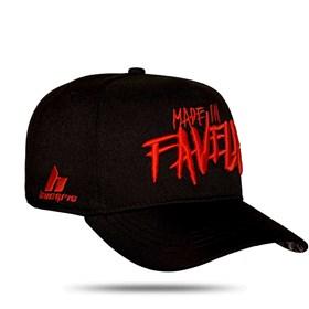 Boné Snapback Made In Favela Black