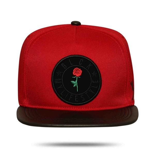 Boné Snapback My Life Style Red Aba Reta