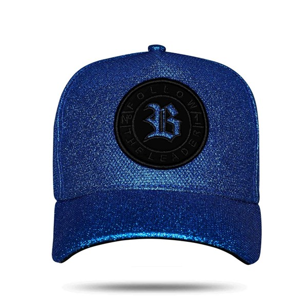 Boné Snapback Nº1 Shine Blue Dark