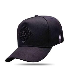 Boné Snapback New The Brand Black Logo Black