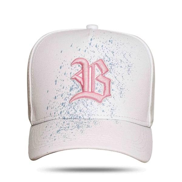 Boné Snapback Paint White Pink