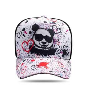 Boné Snapback Panda Graffiti Branco