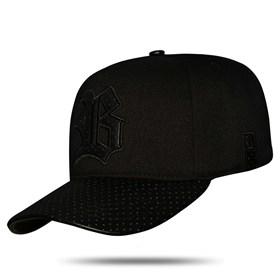 Boné Snapback Perfored Basic Black