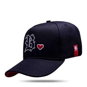 Boné Snapback Preto Logo Heart Side