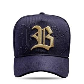 Boné Snapback Preto N°1 Logo Dourado