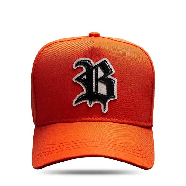 Boné Snapback Slip Orange Logo Black