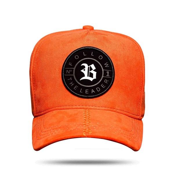 Boné Snapback Suede Number One Orange