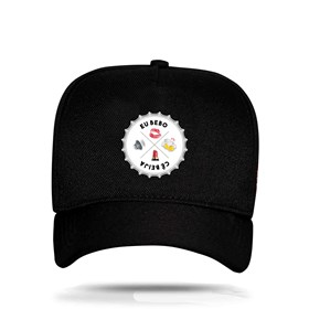Boné Snapback Tampinha Emojis Black - Israel e Rodolffo