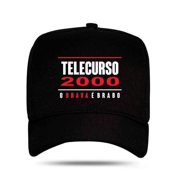 Boné Snapback Telecurso 2000 Preto
