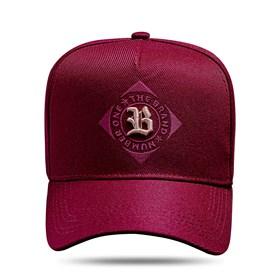 Boné Snapback The Brand Vinho Logo Bege 2.0