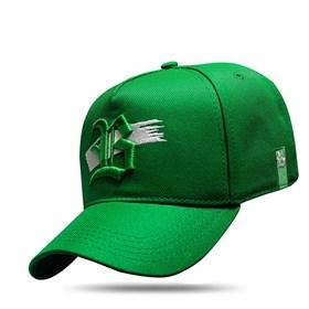 Boné Snapback Verde Logo Strip Branco