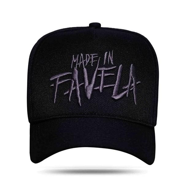 Boné Snapnack Made In Favela All Black