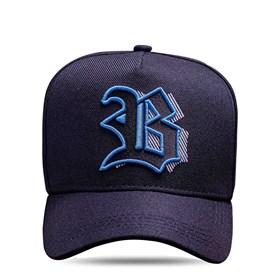 Boné Strapback All Black Logo Blue Shadow 3D Cor:Preto;Tamanho:UN