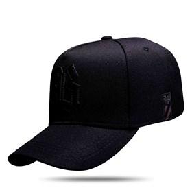 Boné Strapback All Black Logo Suede Black