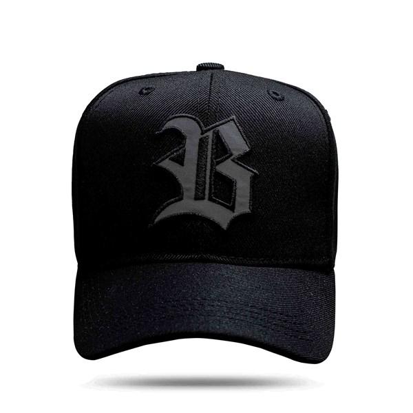 Boné Strapback Black Logo Reflected