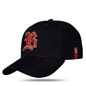 Boné Strapback New Black Logo Orange