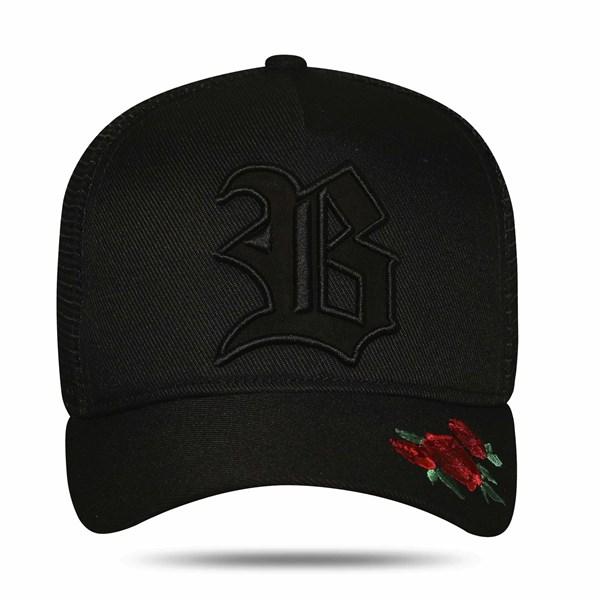 Boné Trucker Edition Roses Black