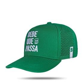Boné Trucker Laser Bebe Que Passa Green