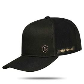 Boné Trucker Logo Shield Black