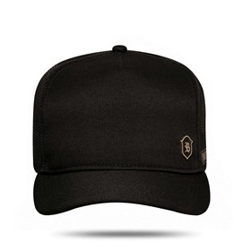 Boné Trucker Logo Shield Black