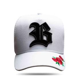 Boné Trucker New Edition Roses White