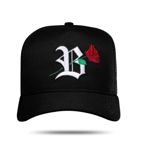Boné Trucker Roses Black