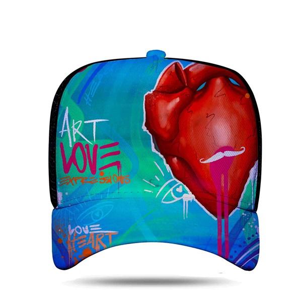 "Boné Trucker Sublimado ""Expressions From The Heart"" Preto - Blck/Nathan Henrique"